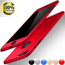 360 Hybrid Full Body Case For Iphone 6 7  plus Tempered Glass Screen Protector