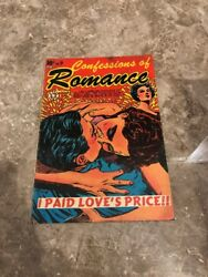 Confessions Of Romance 9 LB Cole Crazy Classic Cover Comic Key Romance