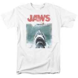 Jaws Movie Tee Shirt Vintage Shark Attack Licensed Adult T Shirt Gift Idea - New