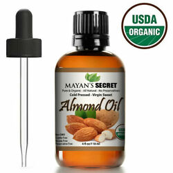 SWEET ALMOND OIL USDA CERTIFIED ORGANIC CARRIER COLD PRESSED UNREFINED 4OZ $11.99