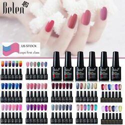 Belen 6 Colors Set Gel Nail Polish Lacquer Top Base Coat Manicure Salon US STOCK