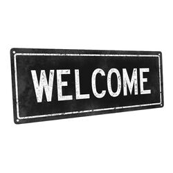 Black Welcome Metal Sign; Wall Decor for Home and Office $24.99