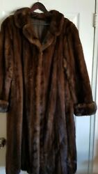 MICHEL POUR FOURRURES BERGERON MONTREAL REAL MINK FUR COAT $4000.00 XL-1X