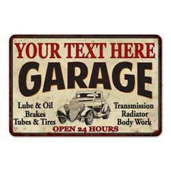 Personalized Garage Metal Sign Man Cave Custom Decor Gift 108120014001 $20.95