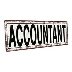 Accountant Metal Sign; Wall Decor for Home and Office $44.99