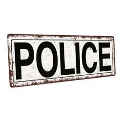Police Metal Sign; Wall Decor for Home and Office $24.99