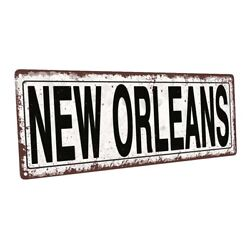 New Orleans Metal Sign; Wall Decor for Home and Office $44.99