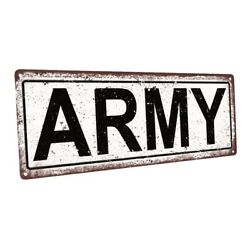 Army Metal Sign; Wall Decor for Home and Office $19.99