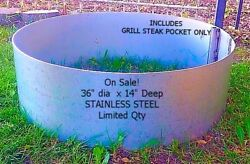 Stainless Steel Camp Fire Pit Ring Liner Brick Insert.
