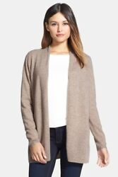 Nordstrom Collection Open Front Cashmere Cardigan (L)