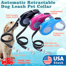 Automatic Retractable Walking Dog Leash Pet Collar 16 ft for dogs up to 35 lbs $10.98