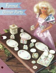 Formal Dinner Party for Barbie Doll Plastic Canvas Pattern Leaflet NEW 14 Mesh $1.97