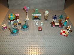 Lego Frozen Lot with Olaf Fire Place Grandfather Clock Snowmen and more...