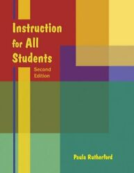 Instruction for All Students by Paula Rutherford (2008 CD-ROM  Paperback)