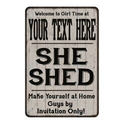 YOUR NAME She Shed signPersonalized Lady Cave Gift Metal Sign 108120082001