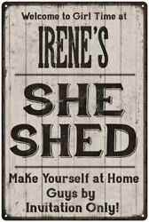 IRENE'S She Shed signPersonalized Lady Cave Gift Metal Sign 108120082079