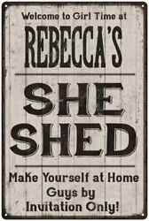REBECCA'S She Shed signPersonalized Lady Cave Gift Metal Sign 108120082037