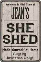 JEAN'S She Shed signPersonalized Lady Cave Gift Metal Sign 108120082061