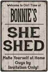 BONNIE'S She Shed signPersonalized Lady Cave Gift Metal Sign 108120082091