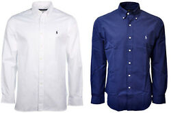 Ralph Lauren Men's Solid Poplin Slim Fit Long Sleeve Button Down Shirt ALL SIZES