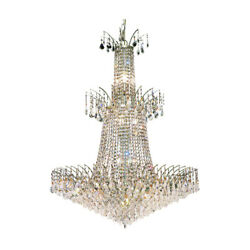 8033 Victoria Collection Chandelier D:32in H:42in Lt:18 Chrome Finish