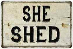 She Shed Vintage Look Chic Distressed 108120020140