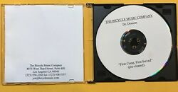 DR.DOOOM ~ FIRST COME FIRST SERVED  US 16 TRACK BICYCLE MUSIC PUBL. ACETATE CD