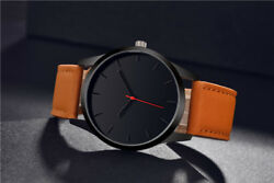 Dial Military Quartz Leather Sport Fashion Watch Men Leather Home Watches New $6.80