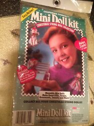 California Country Mini Doll Kit #6601 Angel Christmas String Doll Collection $14.99