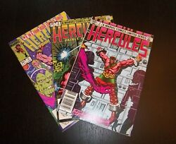 HERCULES PRINCE OF POWER ISSUES 1 2 3 OF LIMITED SERIES GREAT CONDITION 1984 $3.95