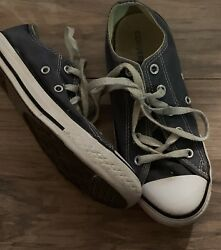 Converse All Star Boys Low Top Shoes Size 2 Blue $12.99