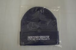 SUPREME Small Stripe Beanie Royal box logo camp F W 18 $69.99