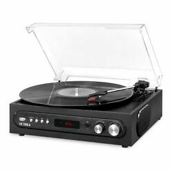 Victrola Bluetooth Record Player with Speakers and 3-Speed Turntable VTA-65-BLK