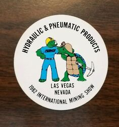 Permco Pneumatic and Hydraulic Products 1982 Vegas Coal Mining Hard Hat Sticker $3.00