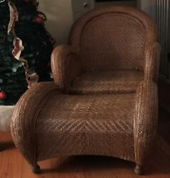 Vintage Pottery Barn Malabar Rattan  Furniture Collection