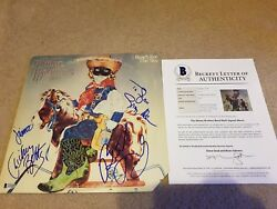 ALLMAN BROTHERS GREGG BUTCH DICKEY JAIMOE signed VINYL LP ALBUM COVER BAS LOA!