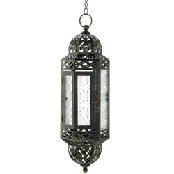 Victorian Hanging Candle Lantern 13 inches $30.00