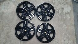 Set 2006 07 08 09 10 11 12 Impala Monte Carlo Hubcaps Wheel Covers Black 3021 $80.00