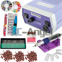 30000RPM Nail Drill Machine Electric File Acrylic Gel Nail Grinder Bits