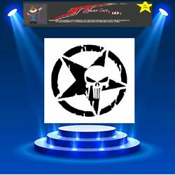 DISTRESSED PUNISHER STAR Large Stencil Template Airbrush Paint $12.95