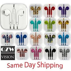 3.5mm Earbuds Earphone Headphone For iPhone 5 6 6S Plus Android Earpods With Mic