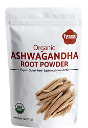 Ashwagandha Root Powder Certified Organic Withania Somnifera # 4816 oz# $8.99