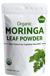 Moringa Powder Certfied Organic Moringa Oleifera 4 8 16 oz 1 lb Vegan Superfood $17.99