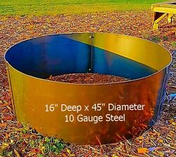 Steel  Metal Fire Pit Ring-Campfire Ring - 16 x 45