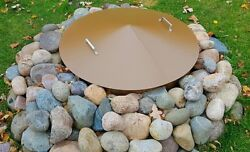 Round Metal Gas-Wood Fire Pit Campfire Ring Cover 42
