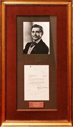 CLARK GABLE~Rare Autographed Letter & Photo Display-GONE WITH THE WIND~COA