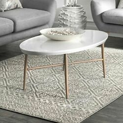 nuLOOM Contemporary Modern Geometric Tiles Area Rug in Grey $85.99