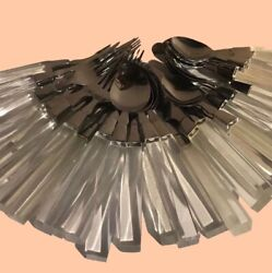 Vintage Mid Century Modern Lucite Stainless LIFETIME Cutlery Flatware Choice