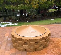 Round Metal Gas-Wood Fire Pit Campfire Ring Cover 37