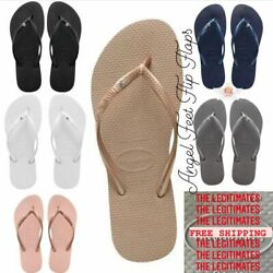 Original HAVAIANAS Flip Flops Women Slim with crystal $21.90
